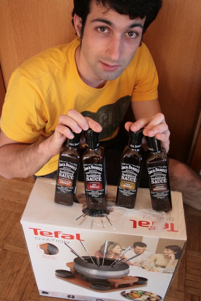 Tefal Käsefondue + Jack Daniels BBQ Souce